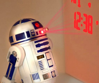 R2-D2 wall projection Clock